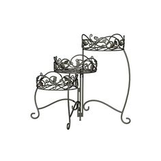 Panacea Products Traditional 3-tier Folding Plant Stand