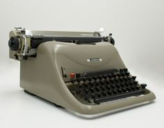 """Designed by Marcello Nizzoli (Italian, 1887-1969), manufactured by Ing. C. Olivetti & C. S.p.A. (Italian), """"Lexicon 80 typewriter,"""" 1948; Indianapolis Museum of Art, Gift of Frank M. and Barbara E. Grunwald in memory of Kurt Grunwald, MD and Melitta Grunwald, 2008.240"""