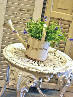 Watering Can with a natural Time-Worn  P*A*T*I*N*A...
