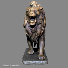Stone Lion Sculpture Model available on Turbo Squid, the world's leading provider of digital models for visualization, films, television, and games. Elephant Sculpture, Sculpture Clay, Stone Lion, Wood Carving Art, Animal Sculptures, Ceramic Painting, Animal Design, Art Forms, Durga