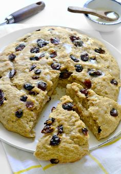 The recipe for Cranberry Orange Scones, plus a chance to win a copy of Cara Reed's (@forkandbeans) new cookbook, Decadent Gluten-free Vegan Baking!