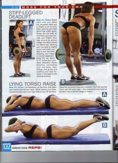 Deadlifts...best exercise for females booties/hamstrings!