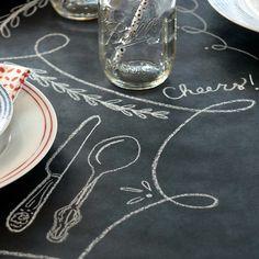 Chalkboard Paper Table Runner @LaylaGrayce