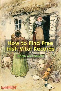 How to Find Free Irish Vital Records   Irish Genealogy Research   Bespoke Genealogy