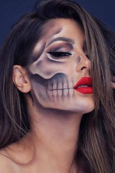 Really Cool Skeleton Makeup Ideas to This Halloween ★ Zie meer: ​​glaminati . - Really Cool Skeleton Makeup Ideas to This Halloween ★ Zie meer: ​​glaminati … - Zombie Makeup, Fx Makeup, Makeup Ideas, Makeup Brushes, Scary Makeup, Cool Makeup, Werewolf Makeup, Eyeshadow Brushes, Gorgeous Makeup
