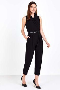Petite Black Wrap Jumpsuit - A bargain in the sale!