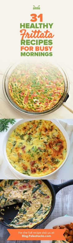Need a quick breakfast for busy weekdays? Frittatas – or thick  Italian omelettes – are up to the challenge. Cook them all up on Sunday  and enjoy them the rest of the week. Get the recipes here: http://paleo.co/frittatarcps
