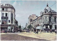 București 1925,Calea Griviţei colţ cu str. Buzeşti Bucharest, Street View, Mai, Viajes