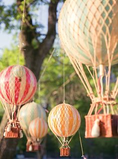 DIY mini hot air balloons