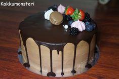 Kakkumonsteri: Sokerikreemi ja suklaakreemi Baking, Cake, Sweet, Desserts, Decorating, Candy, Tailgate Desserts, Decor, Deserts
