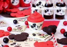 Mickey Mouse Themed Birthday Party with FREE PARTY PRINTABLES!! - Kara's Party Ideas - The Place for All Things Party
