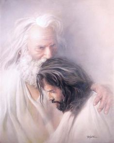 Father & Son - Christian art - No greater love or relationship between a father and son like that of God & Jesus. Jesus Christ Lds, Pictures Of Jesus Christ, Jesus Art, Jesus Is Lord, Savior, Pictures Of God, Lds Pictures, Images Of Christ, Children Pictures