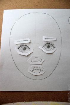 Отличных мастер-классов, о том как нарисовать лицо текстильной кукле, и в сети и на Ярмарке Мастеров предостаточно. И все же я попытаюсь вставить свои пять копеек в эту тему. Ведь хочется не просто нарисовать, а чтоб личико было не похоже на других. И для этого возьмем на вооружение методы криминалистов. Будем составлять фоторобот идеальной куклы. Материалы: - несколько листов белой бумаги -…