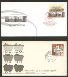 2 FDC, Brazil 1980, Stone industry and Mexico 2002, Centro Historico !