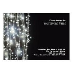 Shop Sparkling Stars Invitation created by pixiestick. 50th Birthday Invitations, Bachelorette Party Invitations, Personalized Invitations, Custom Invitations, New Year's Eve Gala, Online Invitations, Invitations Kids, Invitation Cards, Invites