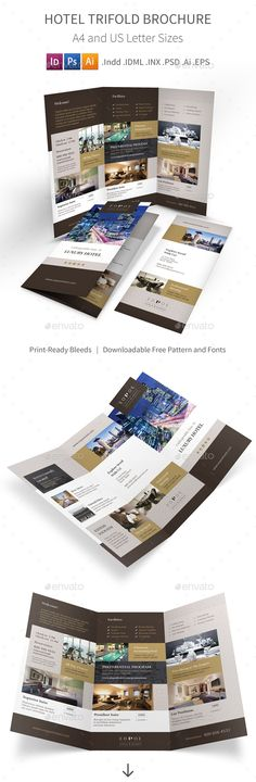 Hotel Trifold Brochure Template. Download http://graphicriver.net/item/hotel-trifold-brochure-5/15596736?ref=ksioks