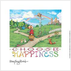 """Choose Happiness"" Fine Print"
