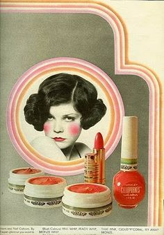 I don't remember this ad, but the nail polish...yes!!!