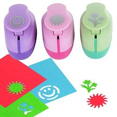 Paper Punch Hole Puncher -- (3 PACK Flowers Sun Happy Face) -- Personalized Paper Craft Punchers Shapes Set -- For Scrapbook Engraving Kids Artwork -- Greeting Card Making DIY Crafts >>> Read more reviews of the product by visiting the link on the image.