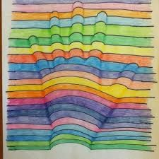 Here is my hand art elementary projects picture to pin on Op Art, 3d Hand Art, Hand Kunst, Abstract Art For Kids, Art Tumblr, Art Journal Pages, Art Design, Art Activities, Elementary Art