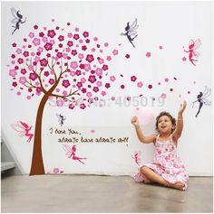 chambre d39enfant grand arbre en fleur de cerisier avec With déco chambre bébé pas cher avec fleur de bach 91