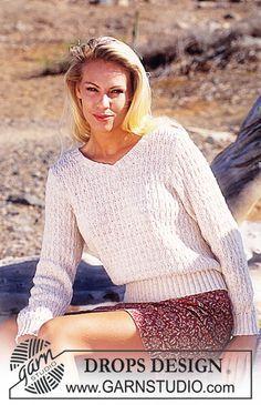 Free pattern: DROPS Sweater in Safran