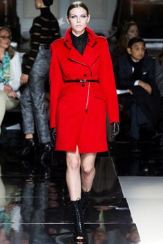 Red Color #Coat Trend for Fall Winter 2013Jason Wu F/W 2013 #nyfw