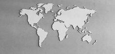 Wereldkaart Wit