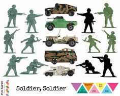 17 Digital Soldier & Vehicle Elements Soldier Soldier by FunFayre, £1.75