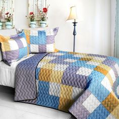 Romantic Macaron Quilt Set (Full/Queen Size)