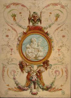 wallpaperpainting  oriental stile   beginning 19th century a | by janwillemsen