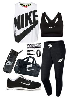 """I Workout!"" by valyia ❤ liked on Polyvore featuring NIKE, Lord & Berry and Fitbit"