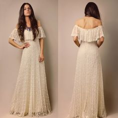 vintage 60s/70s wedding dress