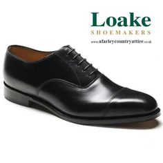 Loake Shoes - Aldwych - Oxford Top Cap Style - Black Calf - available to buy online at http://www.afarleycountryattire.co.uk/loake-shoes-traditional-english-shoemakers/ #loakeshoemakers #loake #loake1880 #afarleycountryattire