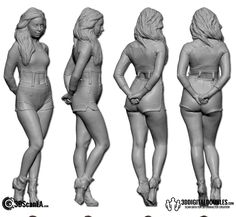 3D Head and Body Scanning for 3D Character Design   Female Body Scan; 24-08