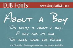 DJB About a Boy Font | dafont.com