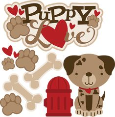 Puppy Love - SVG Scrapbooking files