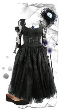 """""""The Witch of Edmunton"""" by firebird1274 ❤ liked on Polyvore featuring Dolce&Gabbana, Old Navy and Baccarat"""