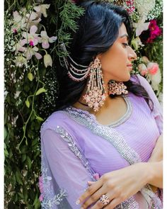 Add a little glam to your Indian wedding outfit by wearing these chic earrings. You can pair these trendy and classy earrings with any ethnic attire. OTT earrings will surely take your reception/haldi/mehndi/wedding outfit a notch higher. Indian Jewelry Earrings, Indian Jewelry Sets, Jewelry Design Earrings, Bridal Earrings, Pendant Jewelry, Wedding Jewelry, Silver Jewelry, Bridal Bangles, Silver Rings