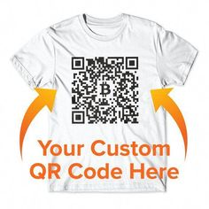 e5af17b16 Custom QR Code Bitcoin T Shirt, Personalized T-Shirt, Bitcoin Shirt,  Cryptocurrency
