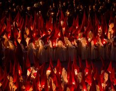 Penitents take part in the Procession of Silence, Zamora, Spain (Andres Kudacki)