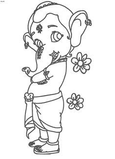 Simple ganesha drawing for kids … | Drawings…