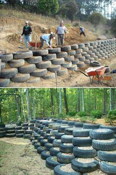 20 Inspiring Tips for Building a DIY Retaining Wall - Engineering Feed Diy Retaining Wall, Building A Retaining Wall, Gabion Wall, Landscaping Retaining Walls, Hillside Landscaping, Landscaping Ideas, Outdoor Projects, Garden Projects, Landscape Design