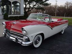 1955 Ford Sunliner for sale - Classic car ad from CollectionCar.com. #fordclassiccars
