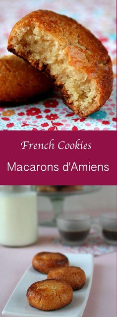 Amiens macarons, unlike the smooth and colorful traditional Parisian macarons are not made of meringue and almonds. The recipe is much easier. Crispy on outside softer on inside. Made with ground almonds Cookie Desserts, Just Desserts, Cookie Recipes, Macarons, Coconut Macaroons, Canadian Food, Canadian Recipes, French Cookies, Cookies Et Biscuits