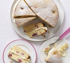 John's white chocolate & raspberry cake