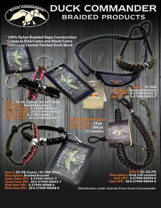 Duck Dynasty Lanyard Commander Braided Key Chain Bracelet