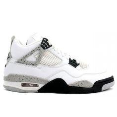 Air Jordan Retro 4 ( White / Cement Grey / Black )