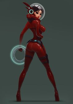 sci-fi space girl by Roman Chaliy Female Character Design, Character Design Inspiration, Character Art, Character Concept, Sci Fi Kunst, Cyberpunk Kunst, Arte Sci Fi, Sci Fi Art, Arte Digital Fantasy