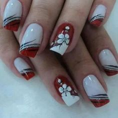 White red and silver glitter